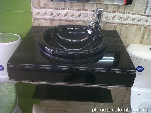 Los mejores muebles para ba o en vidrio grifer as for Precio de lavamanos
