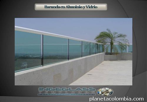 Pasamanos en acero inoxidable barandas vidrio templado for Barandas de vidrio y acero