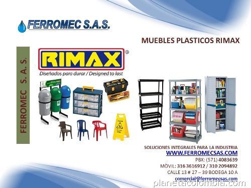 Muebles pl sticos rimax en teusaquillo for Muebles de plastico para exterior
