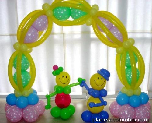 Fotos de curso rel mpago decoraci n en globos - Adornos de globos ...
