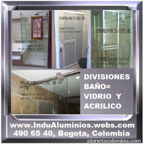 Fotos de divisiones para ba o puertas ventanas closets muebles oficina y hogar 1 - Muebles de bano de aluminio ...