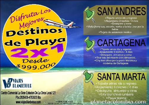 Viajes blanbetour destinos playa 2x1 santa marta san for Hotel para cuatro personas
