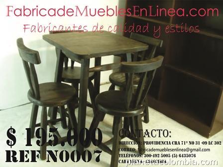 Juego de comedor para bar restaurante cafeter a muebles en madera en cartagena tel fono - Muebles de cocina en cartagena ...