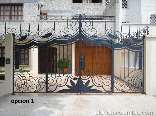 Fabricaci n hierro forjado rejas puerta pasamanos for Portones de hierro forjado para casas