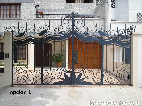 Fabricaci n hierro forjado rejas puerta pasamanos - Rejas hierro forjado ...