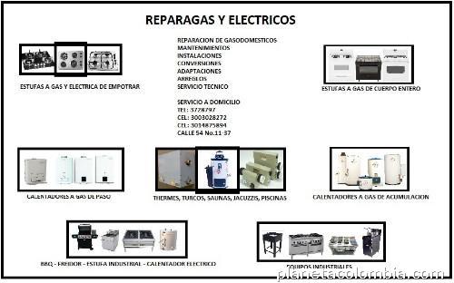 Reparagas y el ctricos reparaci n mantenimiento for Estufas industriales cali