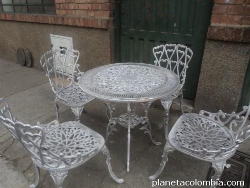 Juego de 4 puestos muebles para jard n y exterior en for Fabrica de muebles de jardin de aluminio