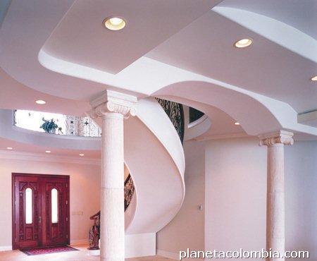 F brica de cornisas molduras trabajos en drywall muros for Modelos de techos en drywall