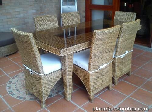 Fabricaci n de muebles en de mimbre en fibra natural y - Muebles fibra sintetica ...