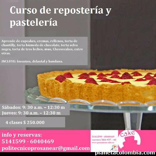 Curso de pasteler a y reposter a en medell n tel fono - Clases de cocina medellin ...