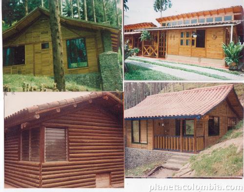 Casas caba as kioscos en madera fina o guadua for Cabanas infantiles en madera