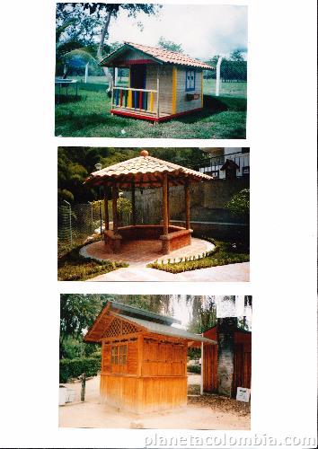 Fotos de caba as casas kioscos juegos infantiles en for Fotos de kioscos de madera