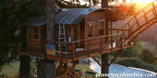 Construcci n de caba as en orillos de madera en usaqu n - Construccion de cabanas de madera ...
